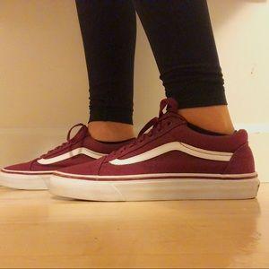 Vans Women's Burgundy Skate Shoes
